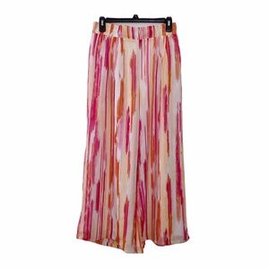 Cato Pink and Orange Striped Pattern Palazzo Pants
